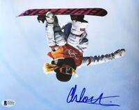 Chloe Kim Signed 8x10 Flip Photo Olympic Gold Medalist BAS