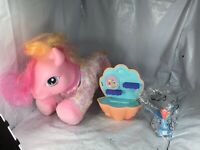 RARE! 2005 MY LITTLE PONY WALKING SWEET STEPS SO SOFT PONY w/Sea Shell & Rainbow