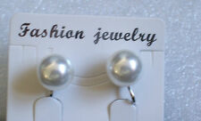 White Faux Pearl Clip-on Earrings