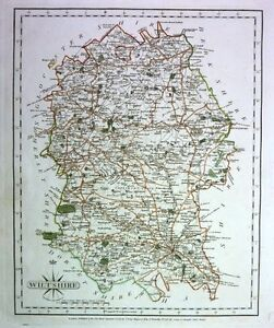 Antique map, Wiltshire ..