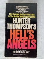 Hunter Thompson, Hell's Angels - Vintage 1981 Printing - Rare Cover Art, Gonzo