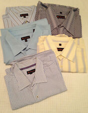 Men's Lot of Five  Ben Sherman  LS Shirts  Striped Blue Gray Yellow   Size XL