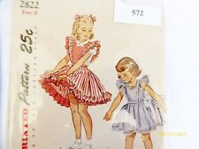 Vintage 50s Simplicity 2822 Childs Pinafore and Panties Pattern  6