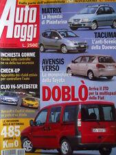 Auto Oggi n°29 2001 Renault Clio V6 vs Opel Speedster   [P10]