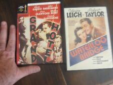 WATTERLOO BRIDGE and GRAND HOTEL dvd lot classic viv leigh r taylor garbo barrym
