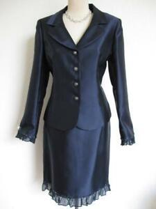NWT Tahari Luxe 2 Pc Evening Skirt Suit 8 Beaded Jewel Button Silk Ruffle Jacket