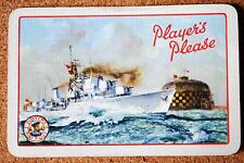 TOBACCO AD -PLAYER'S PLEASE -BOAT- SHIP- RED - VINTAGE SWAP PLAYING CARD SINGLE