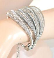 BRACCIALE ARGENTO donna ELEGANTE cerimonia bracelet pulsera armband pulseira 510