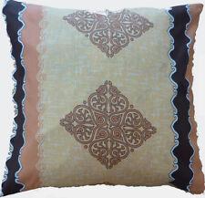 "Cushion Cover vintage beige brown Cotton Home Sofa pillow envelope back 16"""