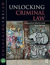 UNLOCKING CRIMINAL LAW - MARTIN, JACQUELINE/ STOREY, TONY - NEW PAPERBACK BOOK