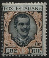 Regno - 1923 - Floreale - Lire 2 - Sassone n.150 - nuovo - MNH