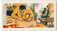 Shoe Makers Crafting Leather Shoes Vintage Trade Ad Card