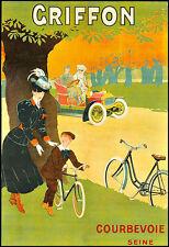Art Ad Griffon  Bicycle Bike Cycle  Deco   Poster Print