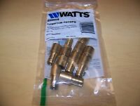"WATTS (10) 1/2"" PEX x 1/2"" Male Sweat Adapters - Brass Crimp Fittings #0653006"