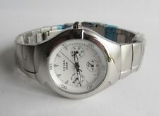 YEMA Triple Date Watch Stainless Case & Bracelet White Dial New