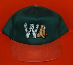 VTG 90s Wisconsin Wausau Woodchucks Minor League Snapback Baseball Hat Cap Nice