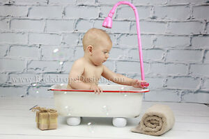 Newborn prop Baby Girl's Bathtub baby photography newborn vintage prop bath tub