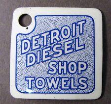 c.1940 celluloid DETROIT DIESEL SHOP TOWELS key chain keychain tool Fob +