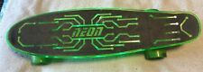 Neon Green Clear Translucent Penny Board Light Up Skate Board Lighted