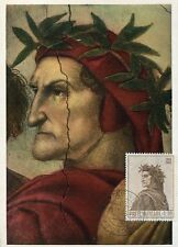 vaticano,11093, maxicard maximum,painting 1965  of raffael raphael, dante alighi