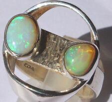 Echte Welo Opale 2.4 Karat 950er Silberring Größe 18,8 mm Unikat