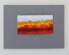 "AUTUMN LANDSCAPE Miniature Pastel Fall Painting 1""x2"" Julia Garcia OOAK Art NEW"