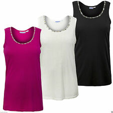 Women's Plus Size Polyester Scoop Neck Sleeveless Tops & Shirts
