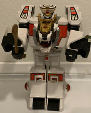 Mighty Power Rangers White Tigerzord 1994 Bandai Action Figure- With Tail/Sword