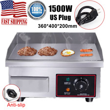 1500W Electric Countertop Griddle Flat Top Grill Plate Bbq Hotplate Commercial