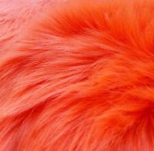 "Neon Orange Luxury Shag Faux Fur Fabric Half Yard 18"" X 60"" Highlighter Orange"