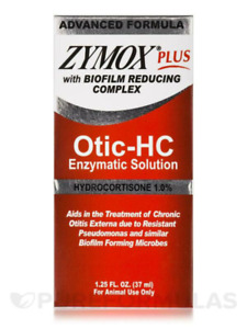 Zymox PLUS Otic-Hydrocortisone Pet Ear Cleaner, 1.25 oz. Bottle