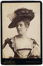 Rosa Schaffer, K. K. Hof-Phot. J. Löwy, Wien, Original-Kabinett-Photo um 1880