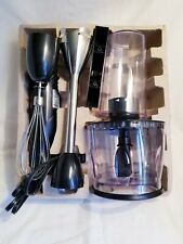 brand new wolfgang puck immersion hand blender & chopper black 560w new in box