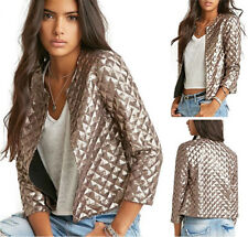 Women Autumn Gold Sequins Short Jacket Coat Outerwear Party Clothing Tops Bomber