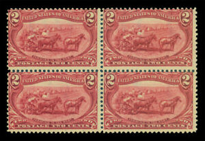 US 1898 Trans-Mississippi - Farming in the West 2c copper Sc# 286 mint MNH blk 4