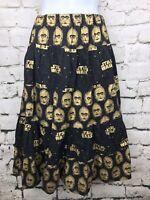 Women's C3P0 Droid Star Wars Black and Gold Skirt Geek Chic Nerd Sz Medium
