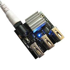 1 PCs 3 USB Mini Charging Module DC-DC 9V/12V To 5V 8A Step Down Power Charger