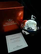 Beautiful Wallace Silver Plate Sleigh Bell - 2002 Horse & Sleigh W/ Original Box