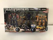 Transformers DOTM Streetside Bot Brawl Set Shockwave Optimus Prime Bumblebee New
