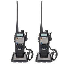 2 x Baofeng UV-5XP 8W Walkie Talkie Dual Band Two Way Radio Transceiver 3000 mAh