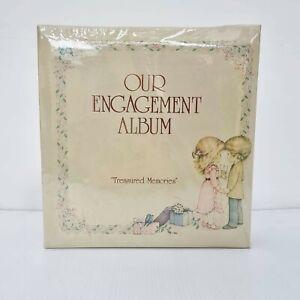Vintage 80s Our Engagement Photo Album Bridal Shower Wedding Gift