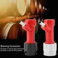 "2pcs Tall Pin Lock Corny Keg Home Brewing Connector Coupler Set 3/16"" 1/4"" Barb"
