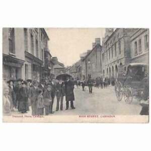 CARDIGAN High Street, Animated Scene, Postcard Cardigan Duplex Postmark 1906