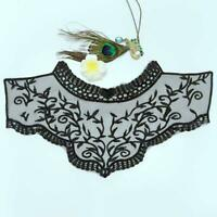 DIY Applique Floral Embroidery Lace Trim Clothes Sewing Patch Neck Collar Decors