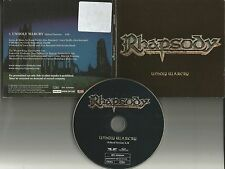 RHAPSODY Unholy Warcry w/RARE EDIT 2002 GERMAN Made PROMO DJ CD Single USA seler