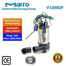 Marro Submersible Sewage Cutter/Shredder Pump V1300DF With Cutting Impeller