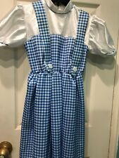 Official Licensed THE WIZARD OF OZ DOROTHY Halloween Costume Girls Medium 6-8
