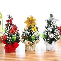 Colorful Mini Christmas Desk Tree Xmas Seasonal Indoor Office Home Decoration