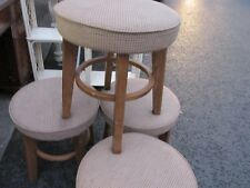 FOUR LOVELY CLOTH COVERED STOOLS