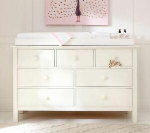 Simply White Pottery Barn Kids Kendall Extra-Wide Changing Table Topper